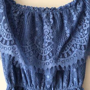 BB Dakota Dresses - Lacy blue mini dress!